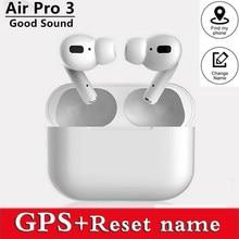 Dla airpoddings pro 3 słuchawki Bluetooth słuchawki bezprzewodowe HiFi słuchawki douszne sport gamingowy zestaw słuchawkowy dla IOS telefon z systemem Android
