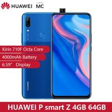 Version mondiale en stock Huawei P Smart Z 4GB 64GB Kirin 710F Octa core Smartphone Auto Pop Up caméra frontale 6.59 téléphone portable