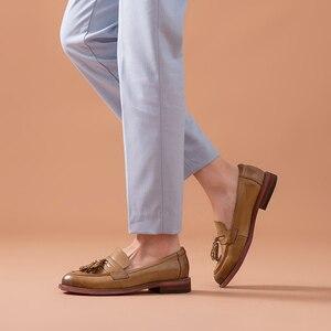 Image 3 - BeauToday – Mocassins à bout pointu en cuir véritable pour femme, chaussures en grandes tailles, chaussures à enfiler, peau de mouton, chaussures plates et décontractées, fait à la main, 27075