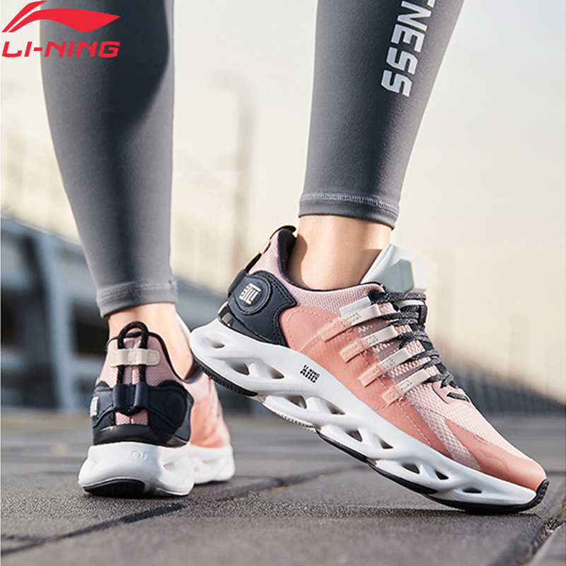 Li-Ning Women LN ARC Cushion Running Shoes WATER SHELL Wearable Sneakers Waterproof LiNing Li Ning Sport Shoes ARHP288 XYP947