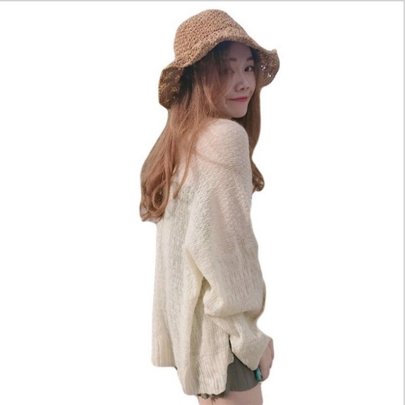 Kaguster Knitted Cardigan women's plus size Summer cardigan Sweater women's Loose Hollow coat kardigan Sweter Cardigans korean top 3