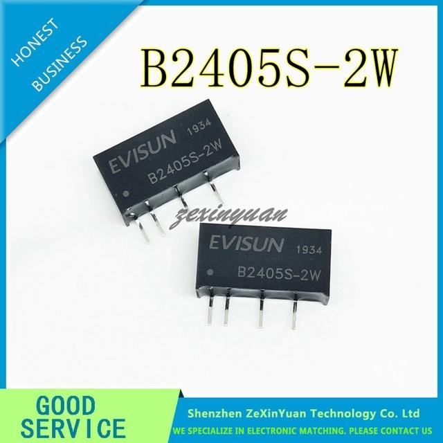 10PCS חדש מקורי DC DC B2405S 2W B2405S 2WR2 1KV מבודד צעד למטה מודול 24V 5V