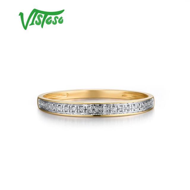 Yellow Gold Sparkling Diamond Minimalistic Ring 1