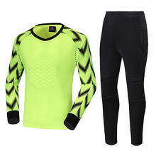 Soccer Jersey Men Goalkeeper uniforms Football keeper Sponge Protector Doorkeeper Shirts