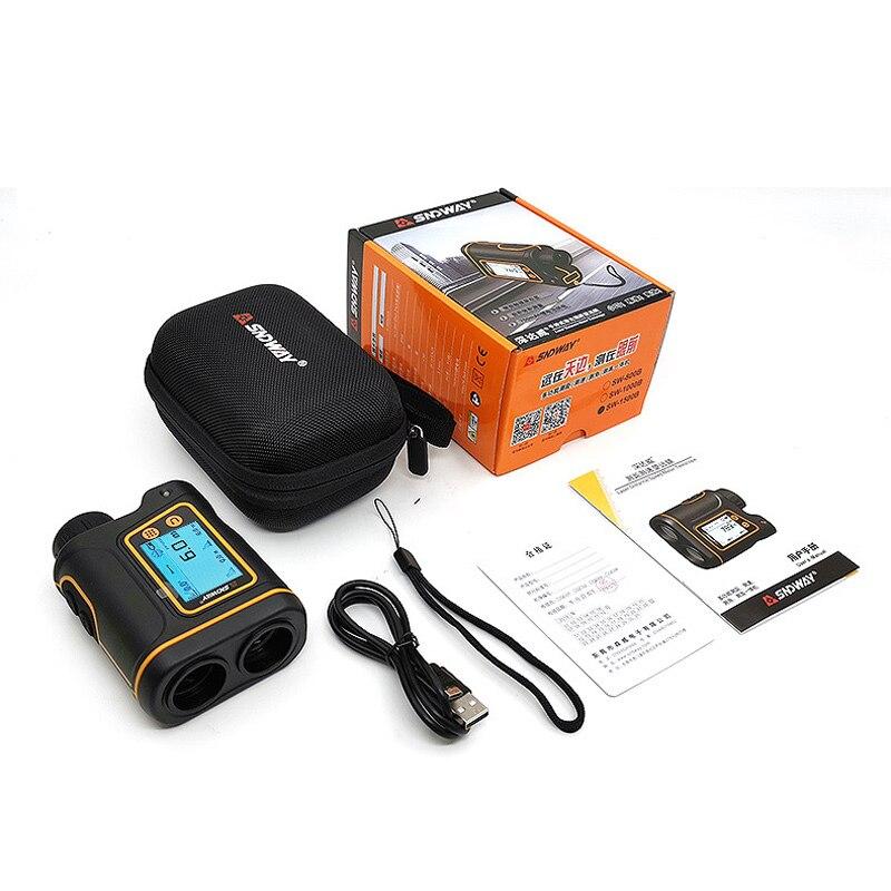 SNDWAY SW1000-B лазерный дальномер для гольфа 600 м 1000 м 1500 м сенсорный экран дисплей литиевая батарея