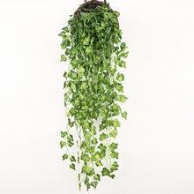 Planta colgante artificial, mata de 90cm con hojas verdes de hiedra y parra para la decoración del hogar, el jardín y fiestas
