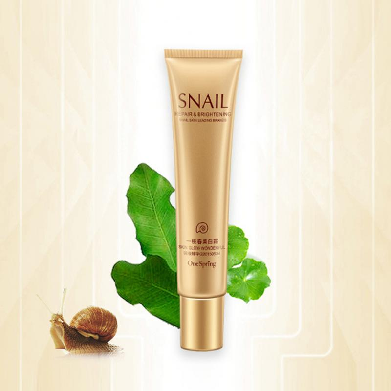 One Spring Snail Whitening Cream Concealer Brighten Moisturizing Base Face Foundation To Wear Face Beauty Cosmetics TSLM1