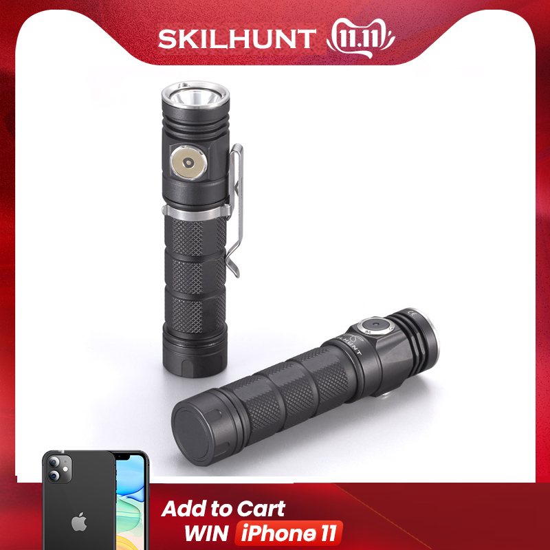2018 New Skilhunt M200 CREE XP L LED magnetic charging flashlight-in Portable Lighting Accessories from Lights & Lighting