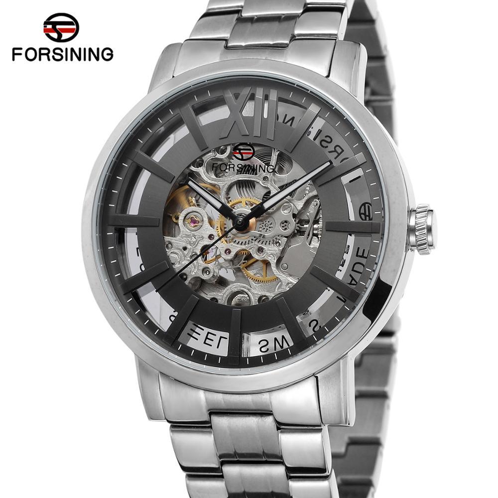 Forsining Nieuwe Mode Mannen Mechanische Automatische Horloge Jurk Horloges Voor mannen Gift Klok Mannelijke Reloj Hombre Relogio Masculino