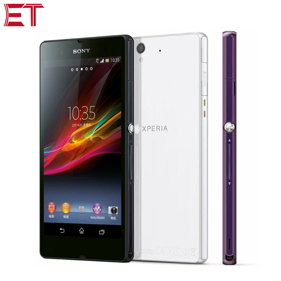 Original US Version Sony Xperia Z C6602 LTE 4G Mobile Phone 5.0inch 1080x1920p 2GB RAM 16GB ROM Quad Core NFC Android Smartphone