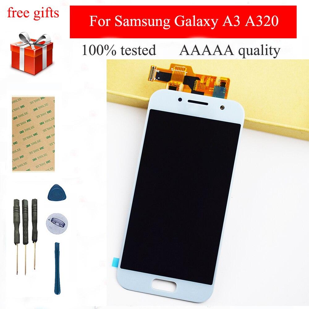 Pour Samsung Galaxy A3 A320 LCD 2017 A320FL A320F capteur d'écran tactile complet + Module d'affichage LCD