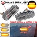 Светодиодный динамический Боковой габаритный фонарь поворота светильник последовательного мигалка светильник Emark для Audi A3 S3 8P A4 S4 RS4 B6 B7 B8 A6 ...
