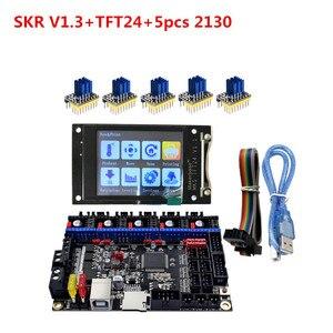 Nouveau SKR V1.3 carte de commande + TFT24 LCD 3d imprimante remplacer les pièces pour Ender 3 CR10 support UART TMC2209 220 TMC2130 SPI drv8825