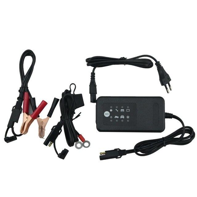 12v carregador de bateria inteligente pulso de carregamento reparação carro da motocicleta com sae conector cabos