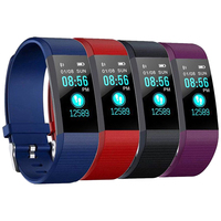 Pulsera inteligente 115plus, reloj inteligente con Bluetooth, control del ritmo cardíaco y de la presión arterial, muñequeras electrónicas monitor, seguidor Fitness