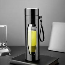 Стекло термос для воды, кофе Чай чашка заварки с крышкой фильтр Посуда Аксессуары чашки аксессуары для украшения дома вечерние подарок