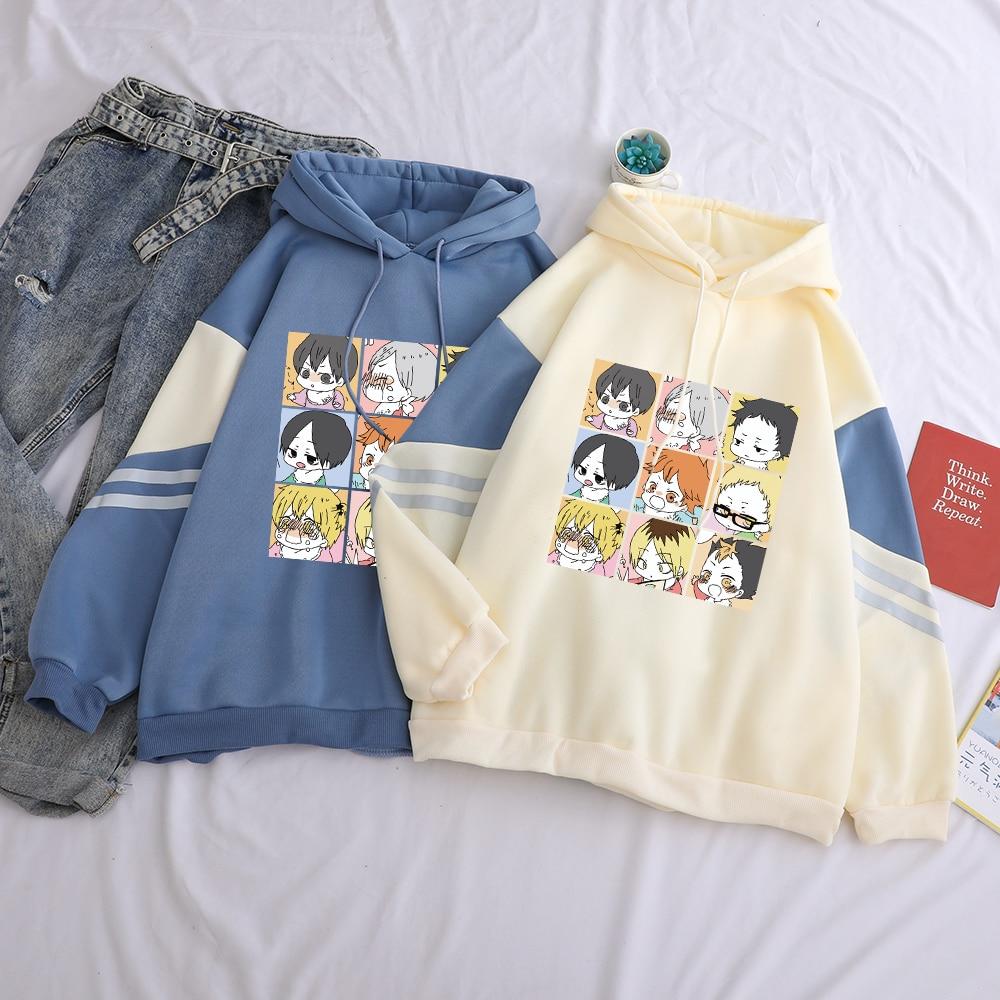 Oya oya oya haikyuu hoodies feminino anime bokuto manga shoyo vôlei criativo moletom com capuz masculino streetwear retalhos moletom