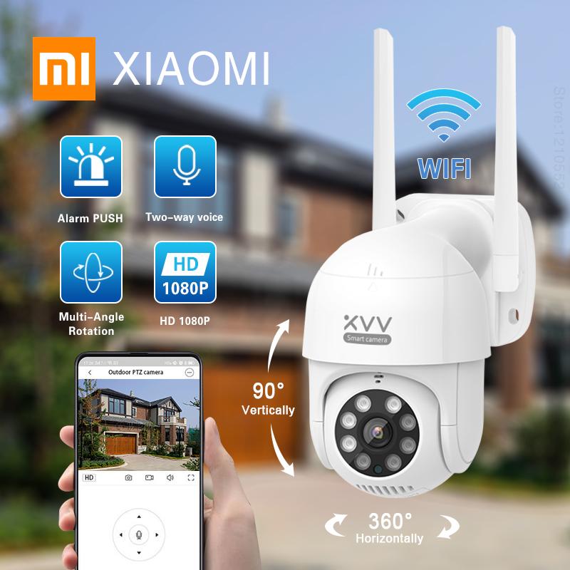Xiaomi Mijia Xiaovv PTZ Action Camera IP65 Infrared Night Vision Rotation 1080P HD Image Quality 8Night Vision Lights 360 Camera