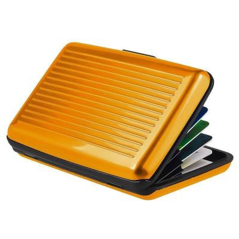 Алюминиевый металлический держатель для карт, визитница для удостоверения личности, чехол, антимагнитный водонепроницаемый кошелек для ка...