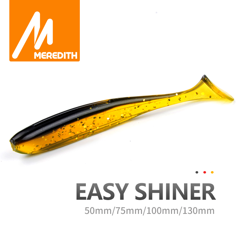 Meredith Easy Shiner Fishing Lures 50mm 75mm 100mm 130mm Wobblers Carp Fishing Soft Lures Silicone Artificial Double Color Baits Fishing Lures  - AliExpress