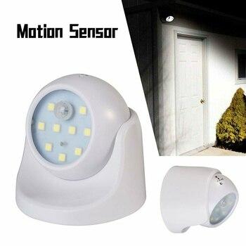 Luz LED con Sensor de Movimiento, 360 °, Interior y Exterior, Detector,...