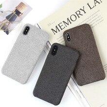 Caseier caso legal para o iphone xr xs max 7x8 6s mais pano macio textrue capa para iphone 11 8 7 6s 6 mais original funda coque
