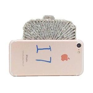 Image 3 - Boutique De FGG Bolso De mano con cristales deslumbrantes para mujer, Cartera De noche con cristales deslumbrantes, para boda, nupcial, para fiesta