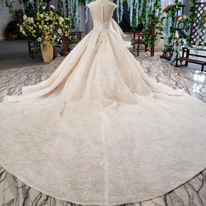 Image 2 - HTL820 wedding dresses turkey o neck cap sleeve beads bridal dresses gown with belt lace up back robe de mariee 11.11 promotion