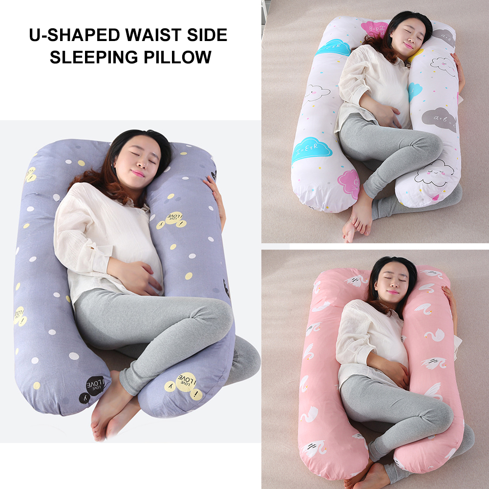 U-Shaped Pregnant Women Boby Pillow Pregnancy Side Sleepers Maternity Waist Support Cotton Nursing Pillow With Pillowcase