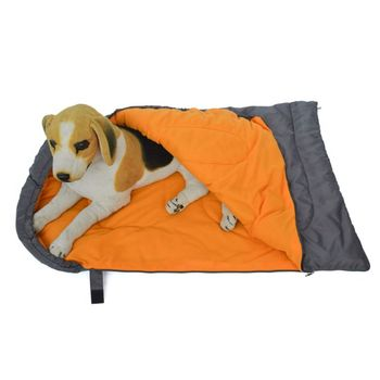 Dog Sleeping Bag Outdoor Waterproof Dogs Pet Cushion Bed for Camping Hiking Kit