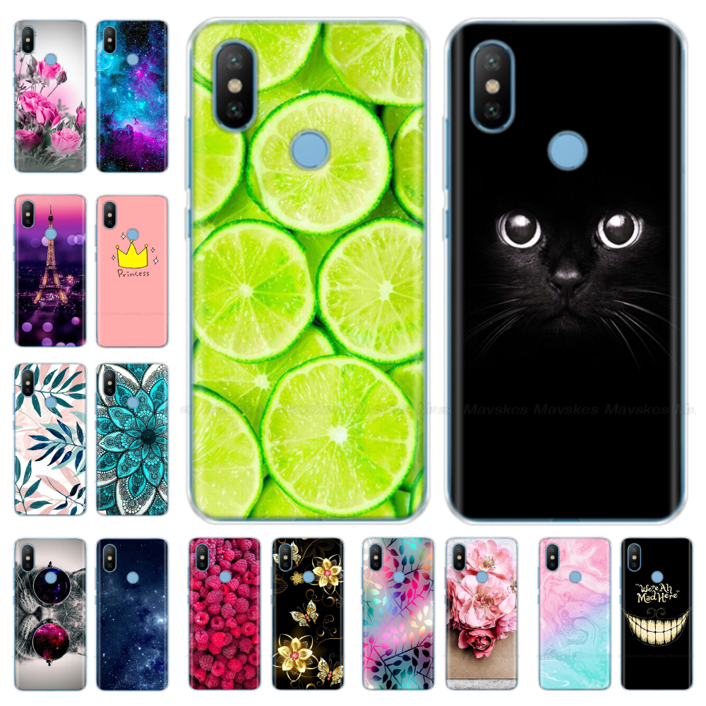 Silicone Phone Case for Xiaomi MI A2 Lite Case Cartoon Soft TPU Back Cover Phone Shell for Xiomi MI A2 MiA2 LITE Bumper Coque