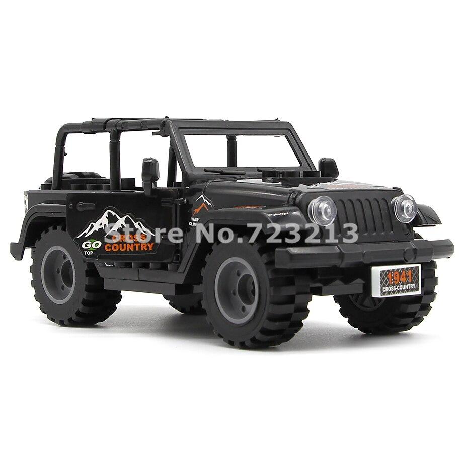 >Black <font><b>Car</b></font> Jeep Accessories MOC SWAT City Military Building Blocks Model Brick Educational Kits Toys for Children <font><b>Legoing</b></font>