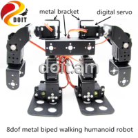 Unassembled 8dof Humanoid Robot Biped Walking Robotic High Torque Metal Gear Digital Servo Free Steering Wheel DIY Education Toy