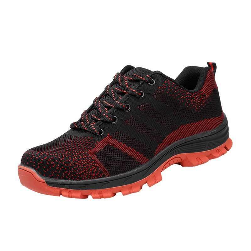 Adisputent Yeni Yıkılmaz Ryder Ayakkabı Erkekler Ve Kadınlar Çelik Ayak Hava Güvenliği Bot Delinme Geçirmez Iş Sneakers Nefes Ayakkabı