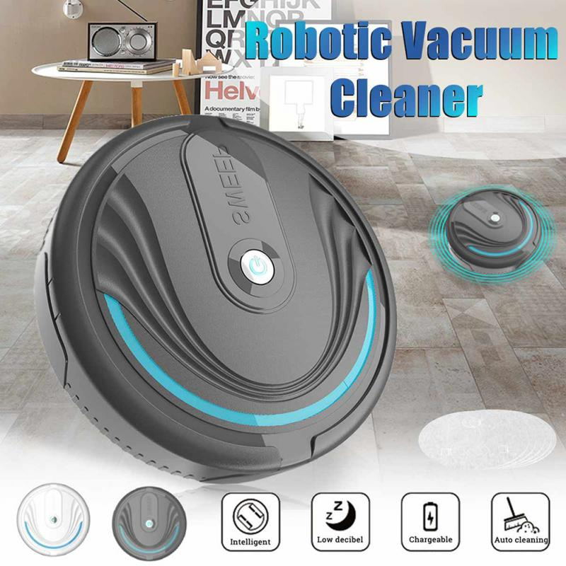 Automatic Smart Vacuum Cleaner Floor Sweeper Robot Household Cleaning Tools Dust Hair Catcher Broom Sweeper 3xAA Battery Support