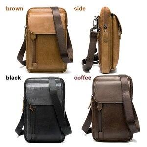 Image 4 - MVA Genuine Leather Mens Shoulder Bags For Men Crossbody Bags Male Messenger Bag Men Leather Handbag Phone Bags Mens Small 899