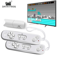 цены Data Frog Video Games Console Wireless USB Handheld Retro Game Built In 620 Classic 8 Bit Game Mini Console Move Duble Gamepad
