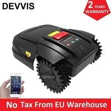 Самый дешевый Интеллектуальный газонный робот-газонокосилка H750 для мини-лужайки, Европейский склад, без налога, Автоматическая перезарядка, приложение для смартфона Wifi, расписание