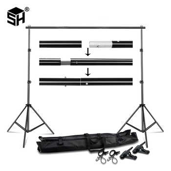 Background Stand Backdrop Support System Kit 2.6M x 3M 3M x 7M with Portable Carrying Bag for Muslins Backdrops,Paper and Canvas - DISCOUNT ITEM  50% OFF All Category