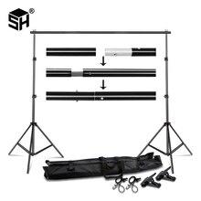 Hintergrund Stand Hintergrund Support System Kit 2,6 M x 3M 3M x 7M mit Tragbare Trage Tasche für Muslins Kulissen, papier und Leinwand