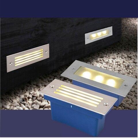 conves levou luz passo 3w lampada subterranea recesso escada paitio local inground luz chao iluminacao
