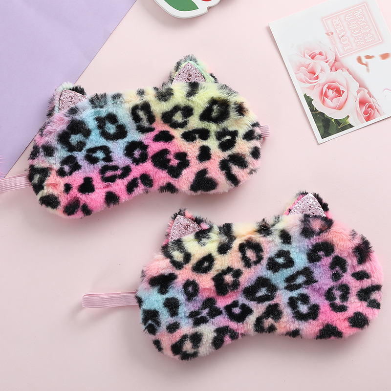 Winter Fashion Colorful Wave Point Eyeshade Eye Mask Women Office Rest Suitable Eye Mask Girl Travel Relax Sleeping Shade Cover