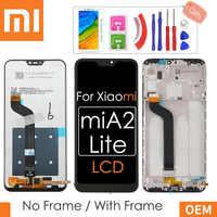 """5.84 """"Original LCD + cadre pour Xiao mi A2 Lite écran LCD + écran tactile numériseur assemblée pour Xiao mi rouge mi 6 Pro LCD 2280*1080"""