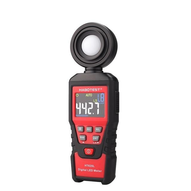 Color : Red ZYHZP 0-100000Lx Lux Gloss Meter Photometer Digital Light Meter Luxmeter Illuminance Meter Photometer Medidor De Brillo Luxometer