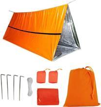 Экстренная палатка для выживания на 2 человек используется в