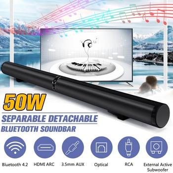 50W 100cm HiFi Detachable Wireless bluetooth Soundbar Speaker 3D Surround Stereo Subwoofer for TV Home Theatre System Sound Bar 1