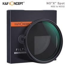 K& F концепция ND2-32 переменный ND фильтр 58 мм 62 мм 67 мм 72 мм 77 мм Нет X точечный фейдер фильтр нейтральной плотности для Sony Nikon Canon