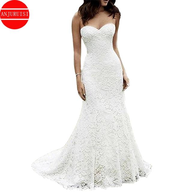 Lace Wedding Dress Mermaid Vestido De Noiva 2020 Gown Robe Mariage Vestito Da Festa Di Nozze Suknia Slubna Trouwjurk Simple Boda 1