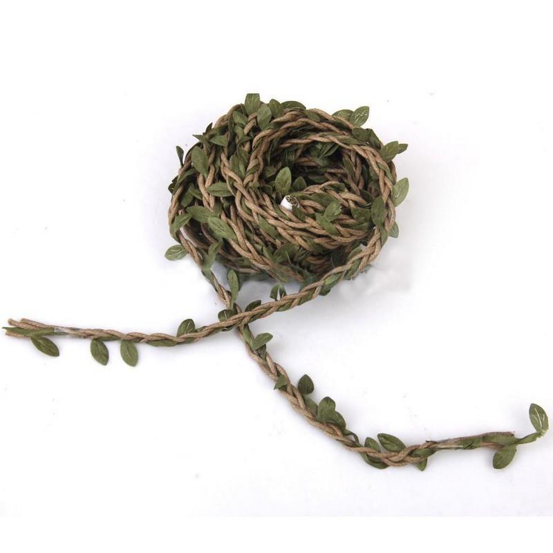 Details about  /FJ BL/_ 10m Artificial Vine Leaf String Wreath Ribbon Craft Wedding Garland Deco