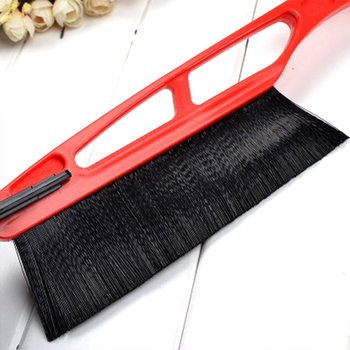 2 In 1 Winter Snow Ice Scraper Brush Sturdy Grip Car Frost Remover Auto Snow Shovel Windshield Window Cleaner Wipping Brushes image